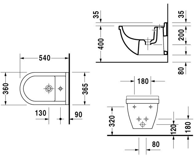 Autospec duravit philippe starck 3 sanitaryware browse for Bidet bloque autocad