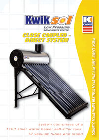 kwikot kwiksol solar water heaters and solar collector panels Solar Panel Installation Diagram kwikot close coupled direct