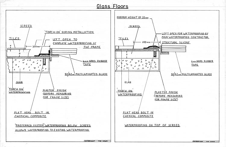 Technical Drawing Of Glass Floors